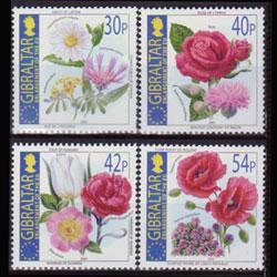 GIBRALTAR 2003 - Scott# 946-9 Nalt.Flowers Set of 4 NH
