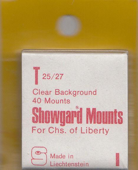 SHOWGARD CLEAR MOUNTS T 25/27 (40) RETAIL PRICE $3.95