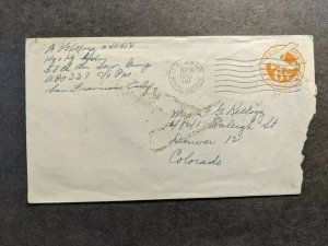 APO 337 OKINAWA, RYUKYU ISLANDS 1945 WWII Army Cover 58th AIR SERVICE Gp APO 181
