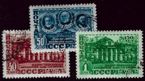 Russia SC#1330-1332 Used VF SCV$12.00...Worth a Close Look!!