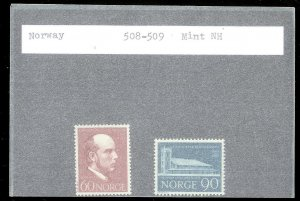 NORWAY Sc#508-509 MINT NEVER HINGED Complete Set