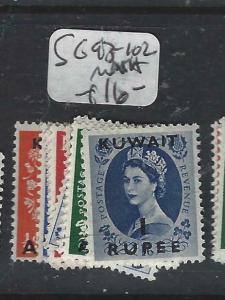 KUWAIT   (P2804B) ON   GB   QEII  SET  SG 93-102   MNH