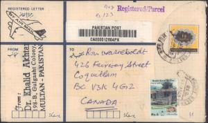 Pakistan, Registered, Postal Stationery