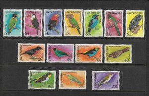 BIRDS - SURINAME #C58-71  MNH