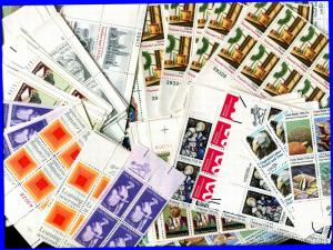 Postage 1000 15¢ Stamps All Mint Full Gum Never Hinged Mostly Plate Blocks