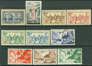 EDW1949SELL : ALGERIA Small group of Mint & Used singles & sets. Scott Cat $57.