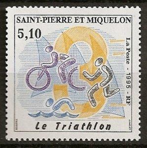 1995 St Pierre and Miquelon 688 Sport / Triathlon