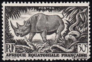 French Equatorial Africa - Scott 167 - Mint-Hinged - Thin