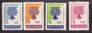 Paraguay Scott 619-622 MH* stamp