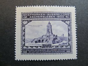 A4P2F23 Germany Poster Stamp 1933 International Philatelic Exhibition mh*