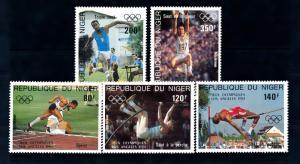 [54914] Niger 1984 Olympic games Los Angeles Athletics MNH
