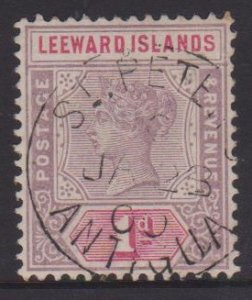 Leeward Islands Sc#2 Used - Postmark Cancel St Peters Antigua