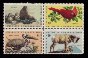 US Sc 1467a MH ZIP Block of Four VF (1972):
