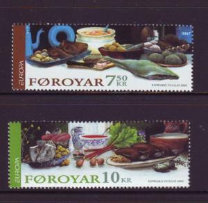 Faroe Islands Sc 456-7 2005 Europa stamp set mint NH