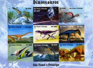 Sao Tome & Principe 2004 Dinosaurs Sheet Imperforated Mint (NH)