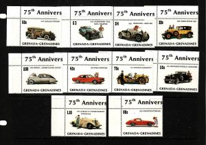 Grenada Grenadines-Sc#544-53-unused NH set-Cars-Automobiles-1983-