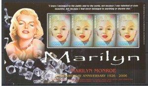 PM093 2006 DOMINICA BRILLIANT MARILYN MONROE MICHEL 10 EURO 1KB MNH