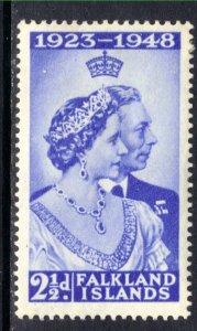 Falkland Islands 1948 KGV1 2 1/2d Silver Wedding MM SG 166 ( K197 )