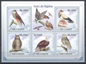Sao Tomé e Príncipe stamp MNH Birds Owl Nature WS90618