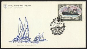 wc010 Russia USSR July 27, 1977 Men, Ships and Sea 12 kopeks FDC first day cover
