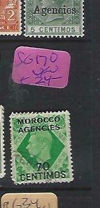 MOROCCO AGENCIES  (P2908B)  KGVI  470 C  SG   170   VFU