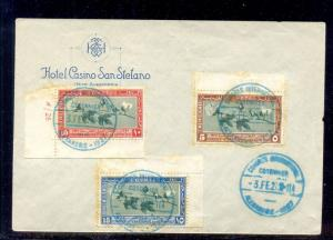 EGYPT- 1927 International Cotton Congress, FDC on San Stefano Hotel Cover
