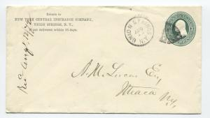 1872 Union Springs NY fancy shield cancel on 3ct green PSE [4260.9]