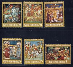 Romania 2301-06 NH 1971 Frescoes set