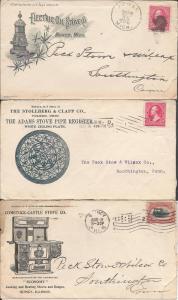 Stoves, Three Envs. 1896-7, 1901
