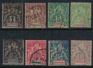 Martinique #33-4,6-41  CV $19.00