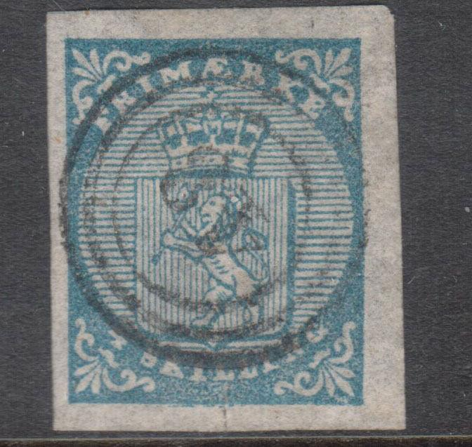 Norway #1 VF Used With Light Cancel