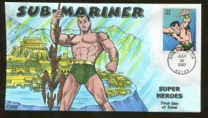 2007 San Diego California - Super Heroes - Sub-Mariner - Collins FDC