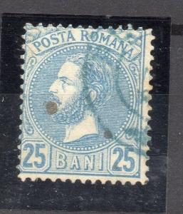 Romania 1880 Carol Early Issue Fine Used 25b. 178690