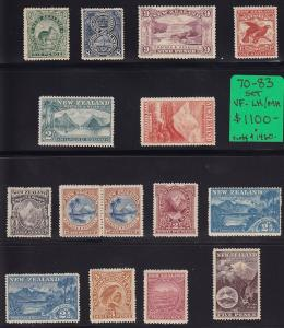 New Zealand scott # 70 - 83 Set VF mint LH/hinged nice scv $ 1460 ! see pic !