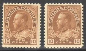 Canada VF NH  #118 - 118b (All Stamps in perfect condition) ADMIRAL C$420.00