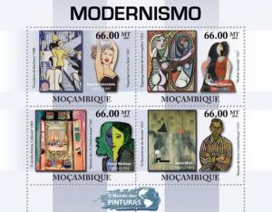 MOZAMBIQUE 2011 SHEET MNH MODERNISM ART PAINTINGS