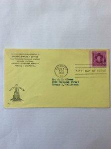 1948 Joel Chandler Harris 3c First day cover. Eatonton GA post mark to Fresno.