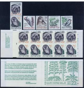 SWEDEN 1723-1724a, 1725-1728 Endangered Species. MNH