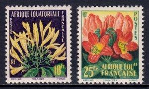 French Equatorial Africa - Scott #200-201 - MNH - Glazed gum - SCV $3.30