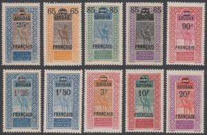 French Sudan 51-60 MH CV $71.55