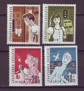 J20746 Jlstamps 1960 berlin germany set mnh #9nb21-4 chrildren