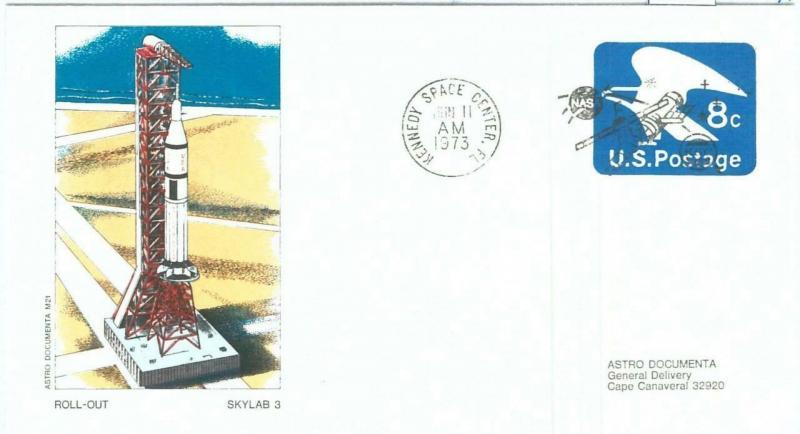 73884 - USA - Postal History - SPECIAL Stationery Cover 1973 SPACE - SKYLAB 3
