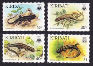 Kiribati Skinks 4v SG#274-277 SC#491-494