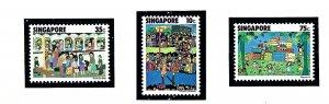 Singapore 285-87 MNH 1977 Childrens Art