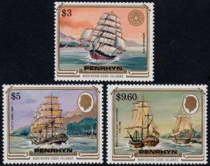 ✔️ PENRHYN 1984 - FAMOUS SHIPS - SC. 284/286 ** MNH $40 [ST2.83]