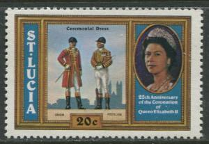 St. Lucia - Scott 439 - Yeoman of the Guard -1978 - MNH -Single 20c Stamp