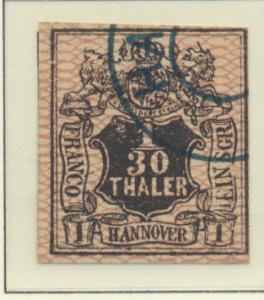 Hanover (German State) Stamp Scott #12, Used - Free U.S. Shipping, Free World...