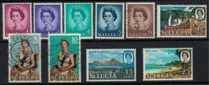 St. Lucia #182-91*/u  CV $6.50