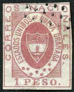 Colombia SG15 1861 1p red Cat 350 pounds