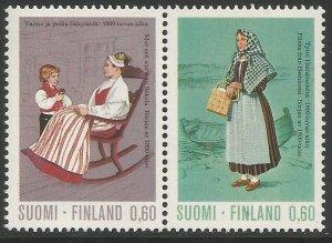 FINLAND  533-537  MNH,  C/SET,  REGIONAL COSTUMES